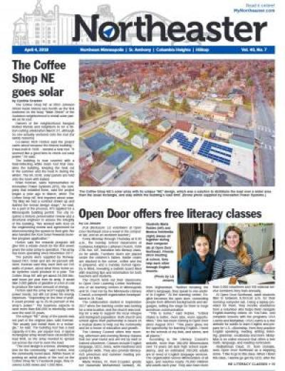 Front page of Northeaster newspaper