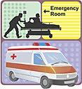Emergency room and ambulance