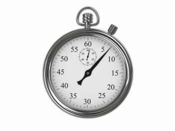 a silver stopwatch