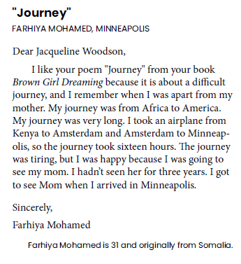 Example of a Letters About Literature story